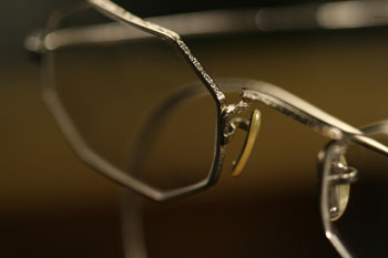 octogonal shaped custom frames in white gold