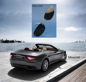 Maserati with Nader Zadi custom eyewear