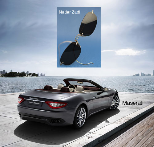 Maserati and Nader Zadi custom sunglasses