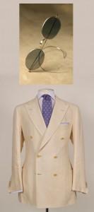 Domenico Vacca suit and Nader Zadi custom eyewear