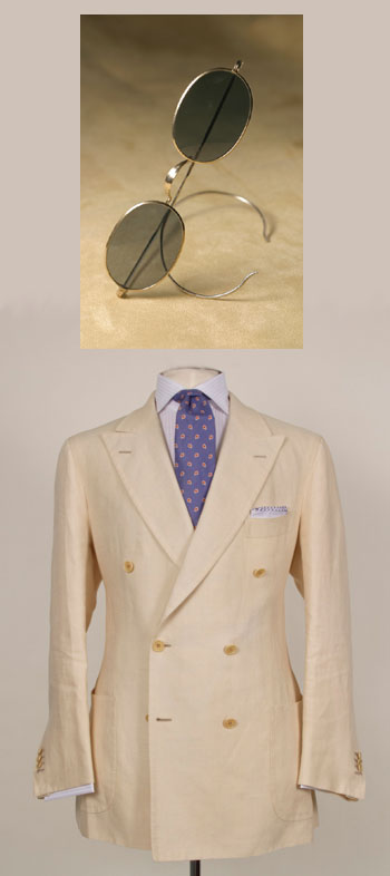 Domenico Vacca suit and Nader Zadi custom eyewear