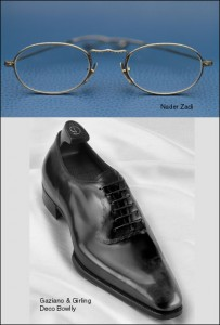 Gaziano & Girling Bowlly Shoe and Nader Zadi Custom Eyewear