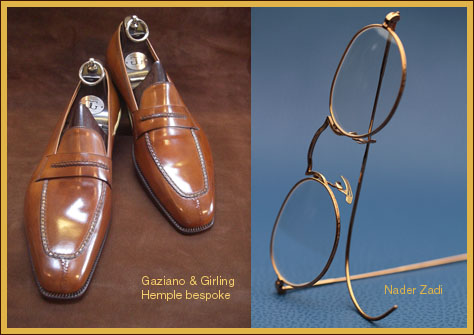 Gaziano & Girling Hemple bespoke and Nader Zadi Customeyes