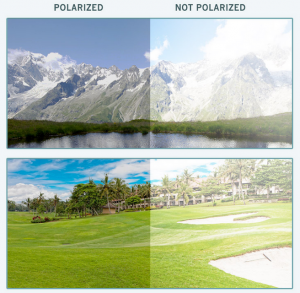 Golfing with polarized lenses